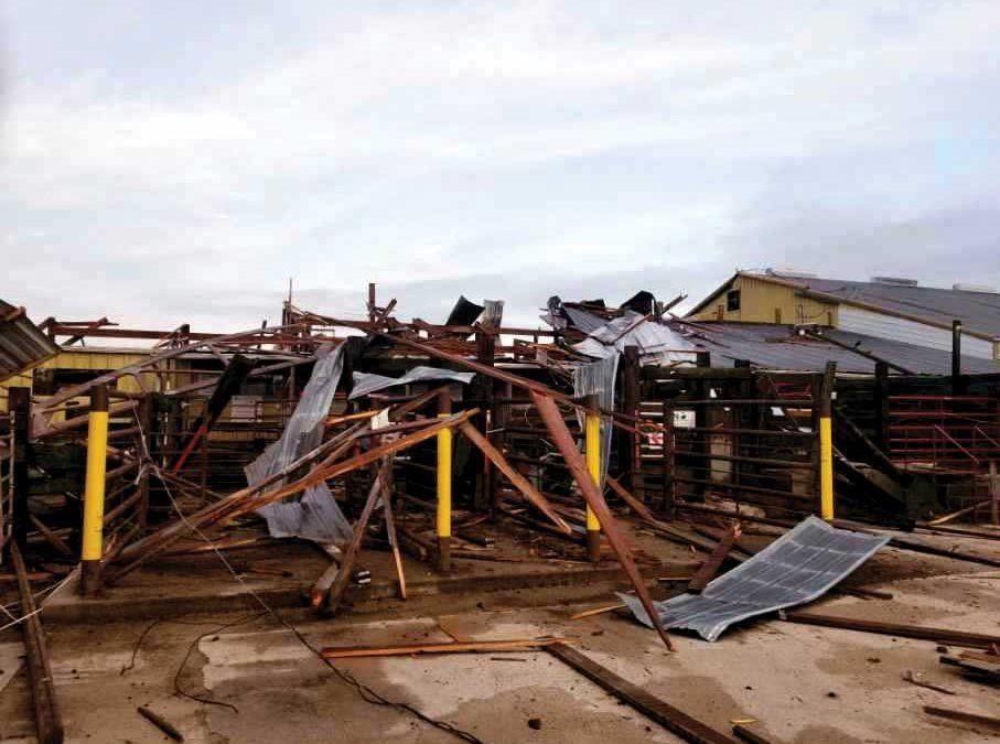 Manchester, Iowa, Branden, Wisconsin Marketing Centers Damaged